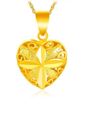 YOUNIQ gold YOUNIQ Premium Open Heart Love 24K Plated Pendant (Gold) C7B58AC744F309GS_1