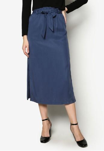 側開叉繫帶及膝短裙、 服飾、 裙子TOPSHOP側開叉繫帶及膝短裙最新折價
