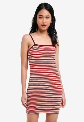 TOPSHOP multi Striped Bodycon Mini Dress 73D14AA0E12335GS_1
