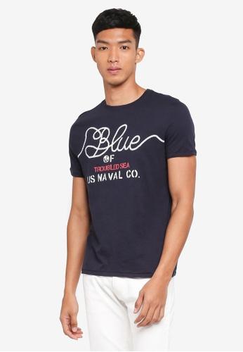 OVS 黑色 短袖印花T恤 EB8E8AACCE195DGS_1