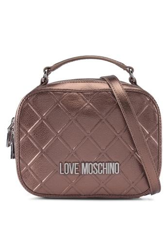 Love Moschino brown LOVE MOSCHINO Top Handle Bag LO478AC0SXWWMY_1