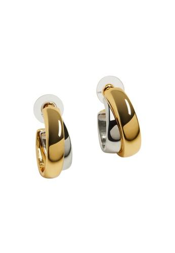 Mango gold Mixed Hoop Earrings 1881EAC14DA9E1GS_1