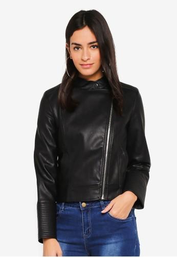 ZALORA black PU Jacket 78196AA7614FB0GS 1 6635bb2652