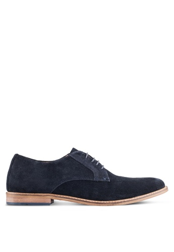 KG Kurt Geiger blue and navy Donald Suede Lace-Up Shoes KG303SH0RIASMY_1