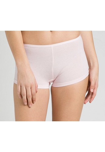 LAVABRA Intimates pink Seamless Supersmooth Bamboo Cooling Thigh Length Panty LA387US87NUEID_1