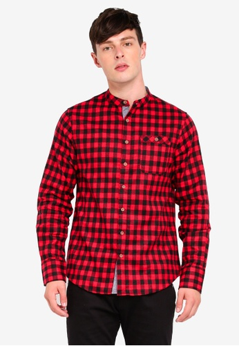 Brave Soul 黑色 格紋長袖襯衫 D73CEAAD001AA4GS_1