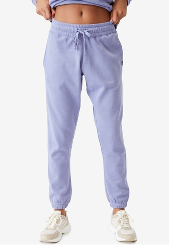 Cotton On Body blue and purple Lifestyle Gym Track Pants 04FC6AA07DB022GS_1