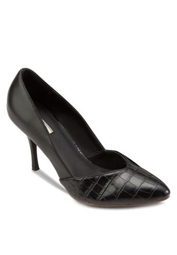 鱷魚紋salon esprit尖頭高跟鞋, 女鞋, 鞋