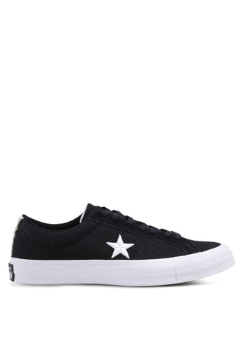 Converse black One Star Ox Sneakers CO302SH0SW8CMY_1