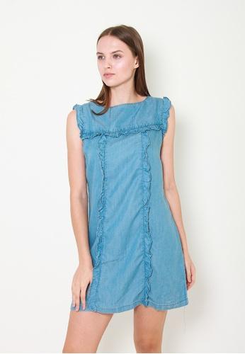 Leline Style blue Amina Denim Shift Dress E0D11AAA841513GS_1