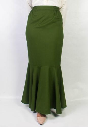 Zaryluq green Fishtale Skirt in Matcha 1B0C5AAB65CB69GS_1