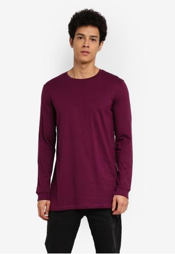 Factorie purple Longsleeve Tall Tee 9B243AA8E71DCEGS_1