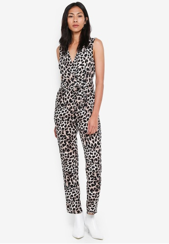 Dorothy Perkins yellow Petite Animal Jumpsuit ACDD4AA5F8E50AGS_1