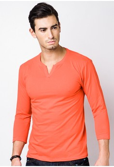 Men's Quarter Sleeve Basic Tee