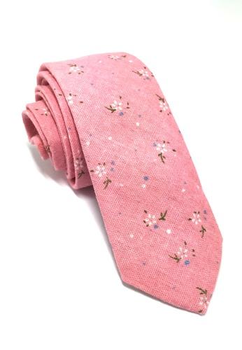 Splice Cufflinks Cottage Series Pink Cotton Tie SP744AC47QRSSG_1