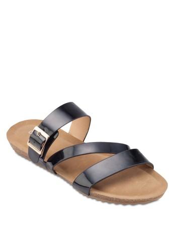 漆皮三帶esprit鞋子涼鞋, 女鞋, 鞋