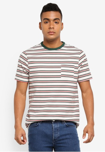 River Island 白色 短袖條紋T恤 D42B3AA51D98E0GS_1
