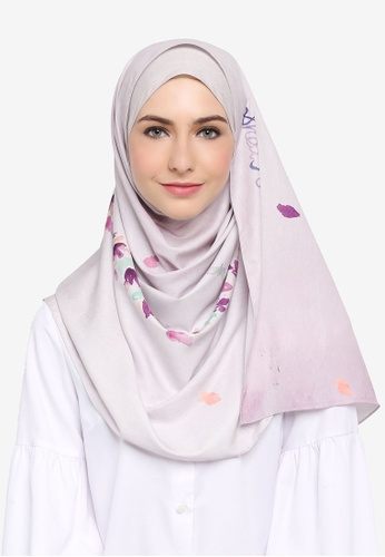 SHEA RASOL grey Khadijah Shawl Legacy Collection 68EDCAA1EF7B60GS_1