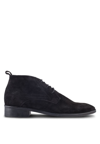ACUTO black Leather Chukkas AC283SH18AIBMY_1