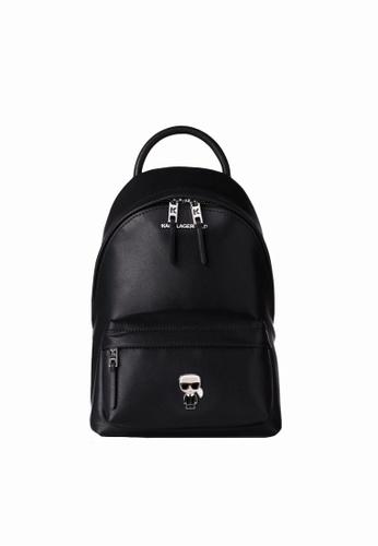 KARL LAGERFELD black K/Ikonik Metal Pin Backpack FD994ACD96F7D3GS_1