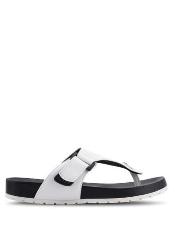 Bata white Slip On Sandals FD4B3SHC40323EGS_1