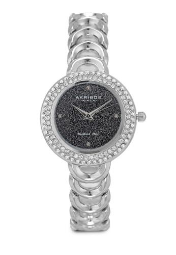 Akribos XXIV silver Diamond Glitter Watch 9E419AC679F7FCGS_1