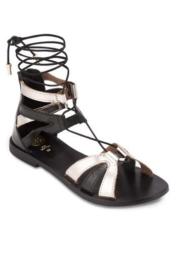 Saulieu 雙色羅馬涼鞋,esprit outlet hong kong 女鞋, 鞋