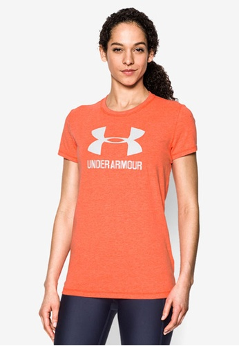 Under Armour orange Sport Style Crew Top UN337AA0SB3UMY_1