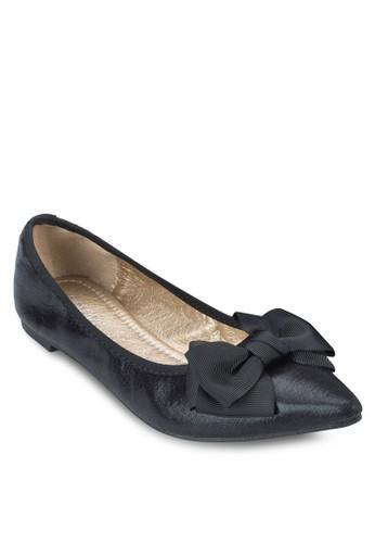 Alice 蝴蝶結亮面平底鞋,zalora開箱 女鞋, 芭蕾平底鞋