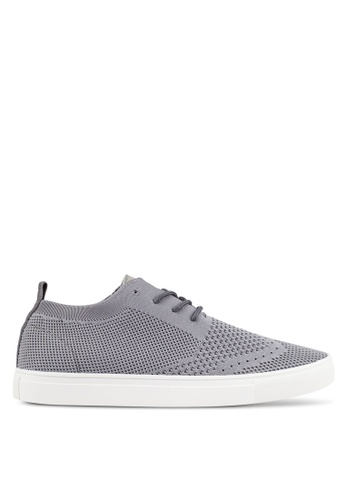 ZALORA grey Casual Knitted Sneakers EB791SH794794BGS_1