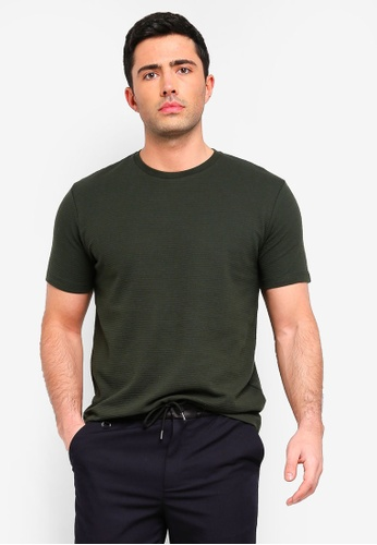 Topman 綠色 短袖T恤 C747AAA7A38732GS_1