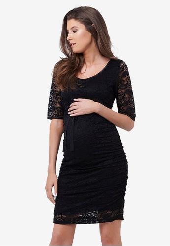 Ripe Maternity black Maternity Paisley Lace Dress BD406AA93D4234GS_1
