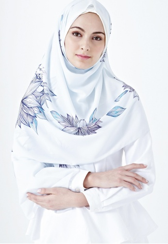 IRA by Twenty3 blue [LIMITED EDITION] Ella Scarf in Harbin Prints 2FCE5AADF835DAGS_1