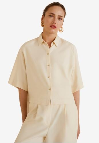 Mango beige Oversize Soft Shirt C41B8AA23B3C97GS_1