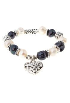 Addie Heart Pearl Charm Bracelet