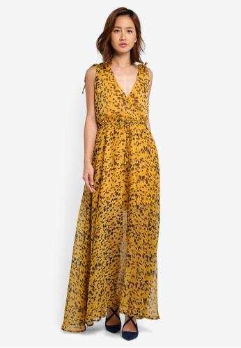 INDIKAH yellow Maxi Dress Printed F5C61AAE4CC355GS_1
