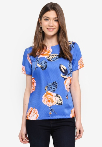 Pieces blue Jemma Short Sleeve Top DC3A0AAA88A3C6GS_1