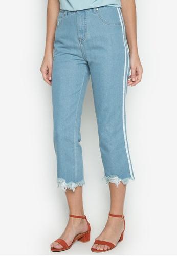 NEXT blue High Rise Fringed Jeans NE725AA0JKHXPH_1