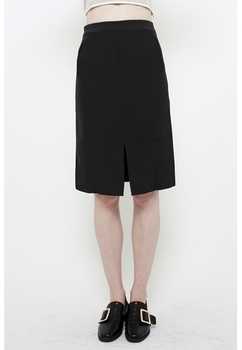 QLOTHE black Moxie Boxy Pencil Skirt 3B277AA08818BFGS_1