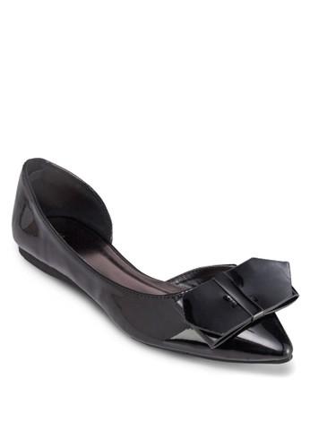 側鏤空蝴蝶結平底鞋, zalora 折扣碼女鞋, 鞋