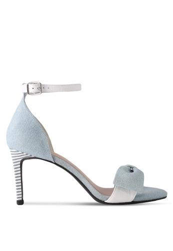 House of Avenues blue Flat Bow Sandals F5DAFSH7F4E07FGS_1