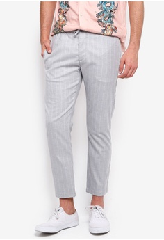 476208ef5a6 Topman grey Light Grey Skinny Stripe Trousers 03E80AAACFD924GS_1