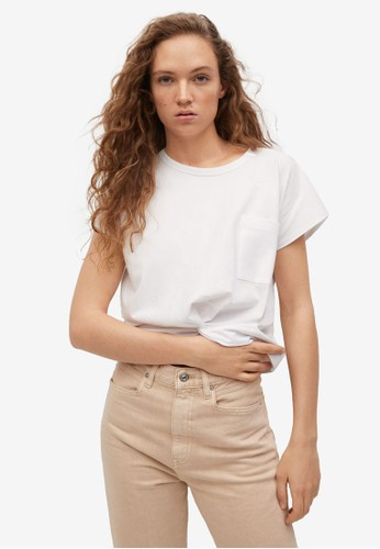 Mango white Knot Detail T-Shirt F442DAA77FA9A9GS_1