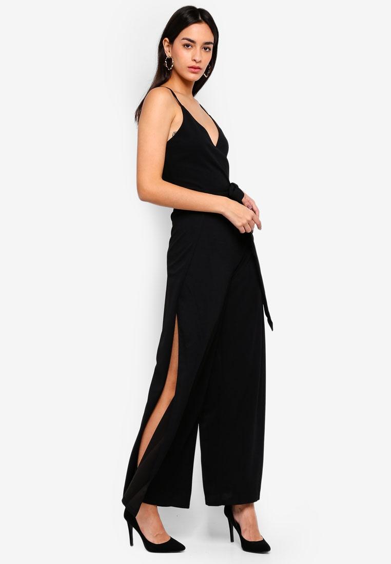 AX Wide Jumpsuit Split Black Leg Paris Thigh AgwxHrqTA