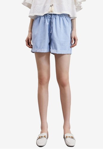 Urban Revivo blue Denim Shorts 289AFAA591EA30GS_1