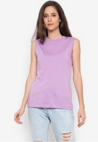 moondaze purple Round Neck Lounge Top 807B9AA46394E9GS_1