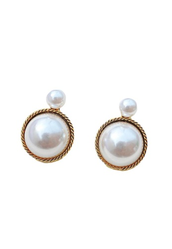 Kings Collection gold Vintage Faux Pearl Earrings (KJEA20058) C1A56AC711FCC1GS_1
