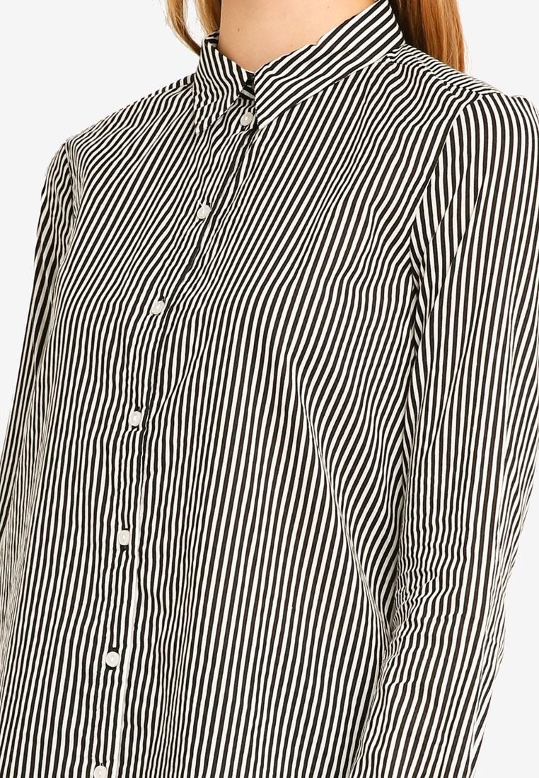 Black Shirt Snow Long Sleeve Eia White Moda Vero w0qO44