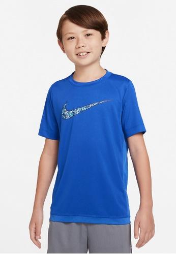 Nike blue Boys' Dri-FIT Trophy Graphic Training Top EA404KAFFFA5A4GS_1