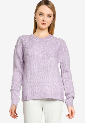 Springfield purple Textured Collar Jumper 10110AA2E9BEDFGS_1